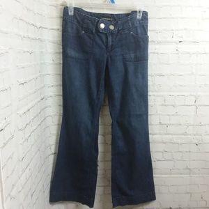 Banana Republic Dark Wash Stretch Flare Leg Jeans
